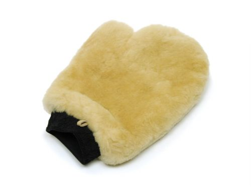 Merino Wool Wash Mitt with Thumb